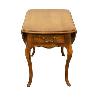 Late 20th Century Vintage Ethan Allen Country French Maple End Table For Sale