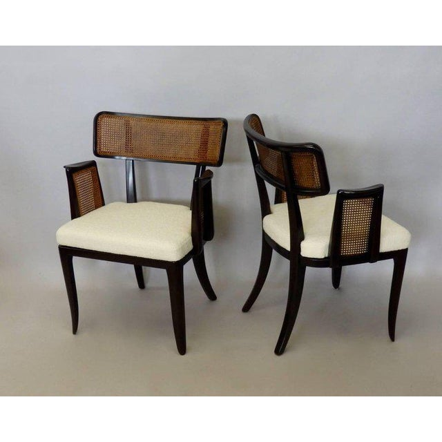 Four Edward Wormley for Dunbar Dining Chairs For Sale In Detroit - Image 6 of 7