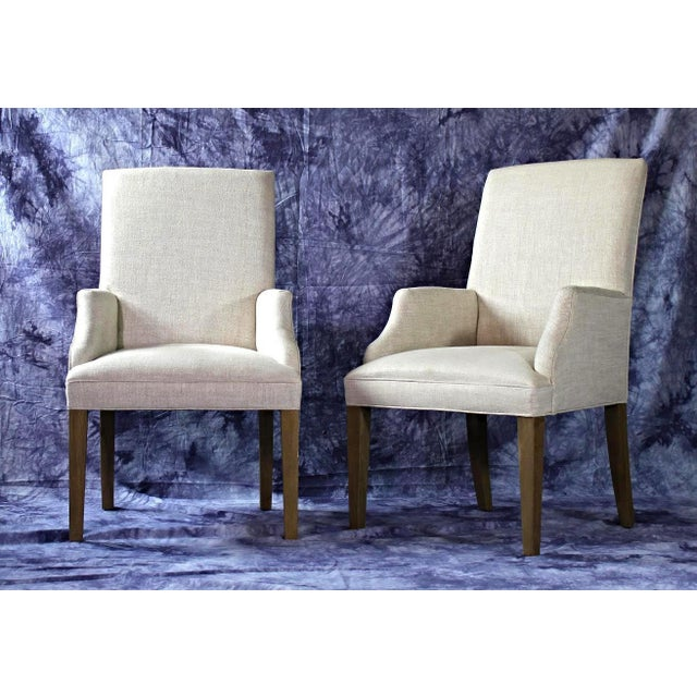 Modern Upholstered Armchairs - A Pair For Sale - Image 4 of 11