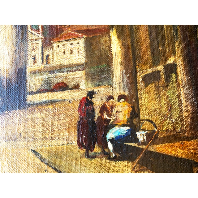 Venice Scene Featuring Architecture and Summer Landscape Paintings on Board, Unframed - a Pair For Sale In Denver - Image 6 of 11