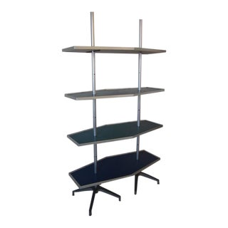 Mid-Century Modern Industrial Shelving Unit For Sale