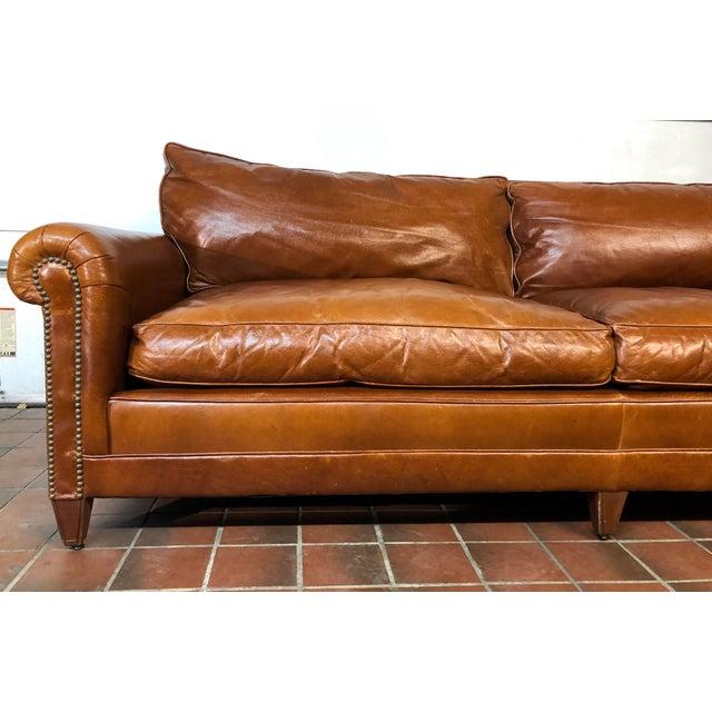 American Ralph Lauren Leather MacIntyre Sofa For Sale - Image 3 of 4