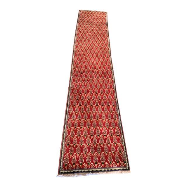Persian Hand-Tied Wool Mir Runner Rug - 2″ × 11″ For Sale