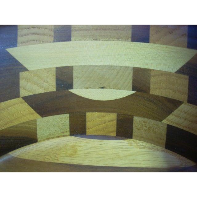 Tom Sullivan Geometric Mixed Wood Salad Bowl For Sale - Image 4 of 6
