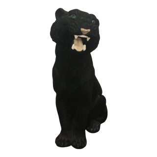 Vintage Black Life Size Panther For Sale
