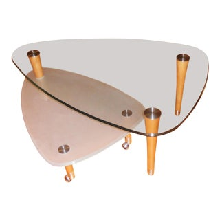Modern Two-Level Coffee Table For Sale