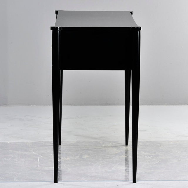 Bespoke Ebonised Console With Vellum Drawers For Sale - Image 10 of 13