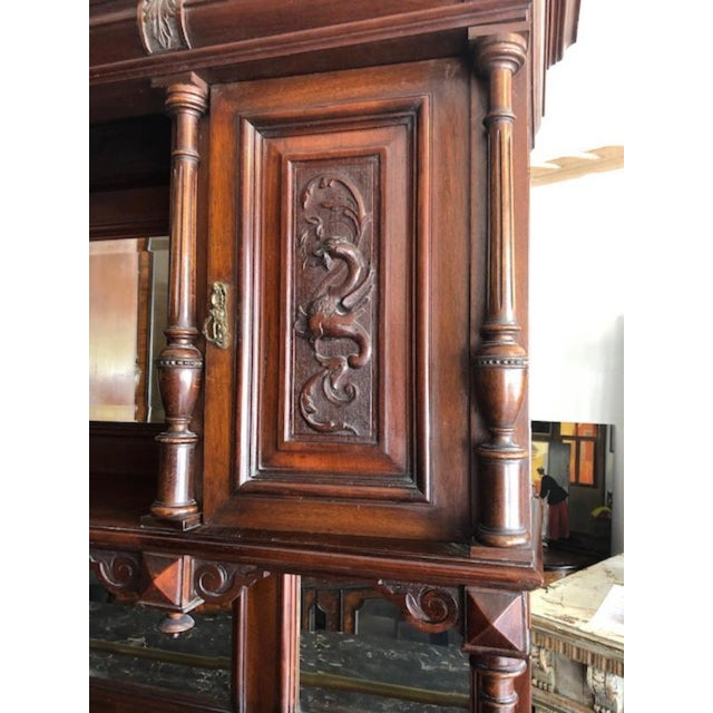 Antique French Marble Top Cupboard Server For Sale In West Palm - Image 6 of 8
