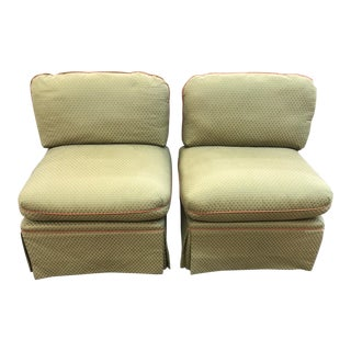 1990s Vintage Armless Club Chairs - A Pair For Sale