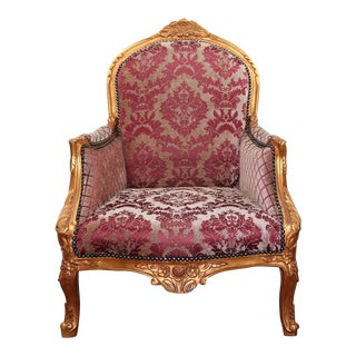 Vintage Louis XV Accent Chair, French Chair, Handmade, Antique Vintage Furniture Reproduction , Victorian For Sale