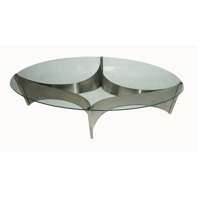 "Maison Charles Maison Charles ""Voiles"" Coffee Table For Sale - Image 4 of 5"