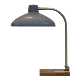 Premium XL Desk Lamp in Steel, Bakelite and Oak-Wood, 1950s Belgium