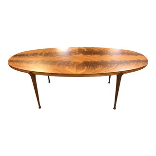 Danish Mid-Century Modern Burl Teek Coffee Table