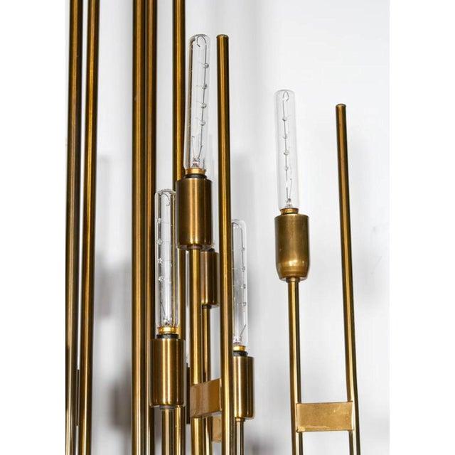 Gaetano Sciolari Mid-Century Modern Brass 12-Lights Chandelier by Gaetano Sciolari, 1960s For Sale - Image 4 of 6