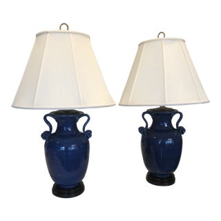 Ginger Table Lamps by Bradburn Gallery With Shades - a Pair For Sale