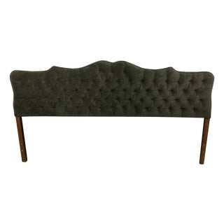 Velvet Tufted King Size Headboard