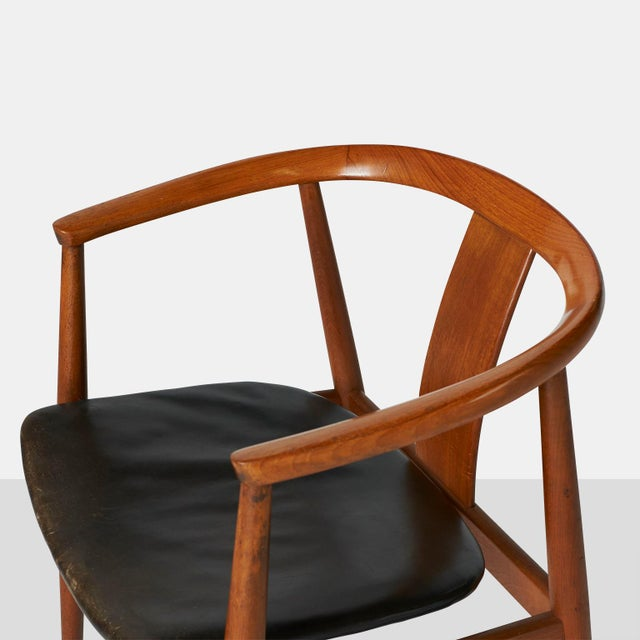 Tove & Edvard Kindt-Larsen Tove & Edvard Kindt-Larsen Guest Chair For Sale - Image 4 of 8