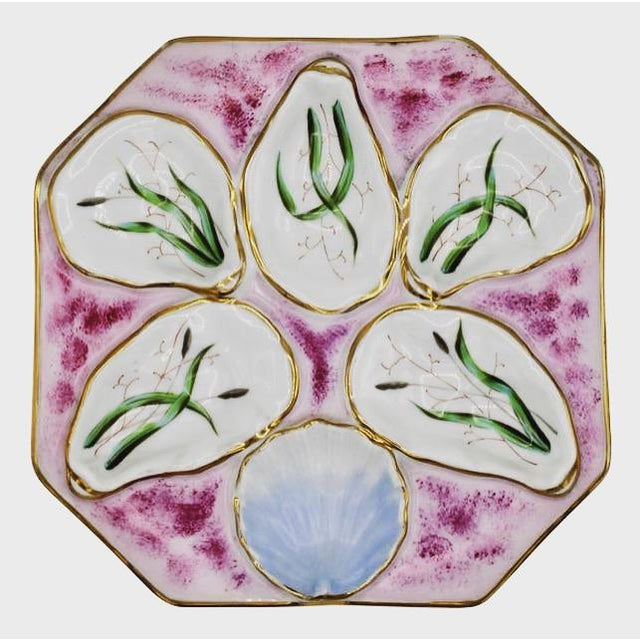 1960s Fuchsia Pink Oyster Plate For Sale - Image 11 of 11