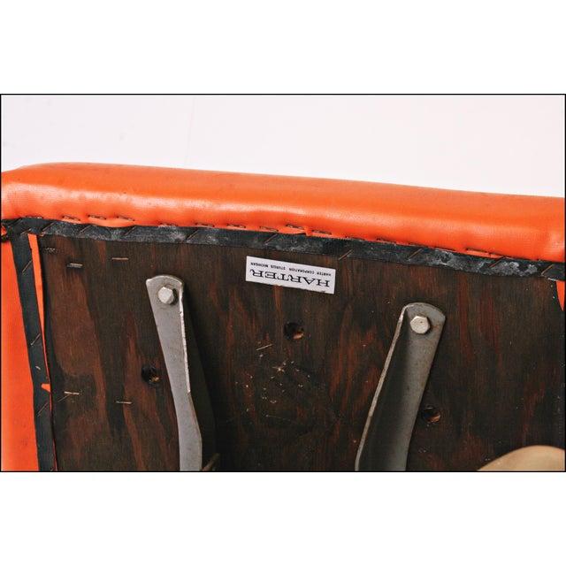 Vintage Orange Industrial Steel Office Chair - Image 11 of 11