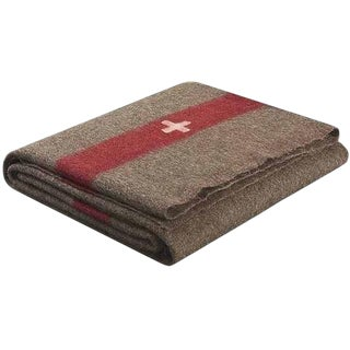 1960s Vintage Swiss Army Wool Blanket For Sale