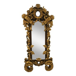 Baroque Style Full Length Mirror Gold Gilt Oversized Frame For Sale