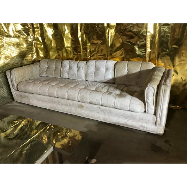 1970s Milo Baughman Frost White Sofa For Sale - Image 11 of 13