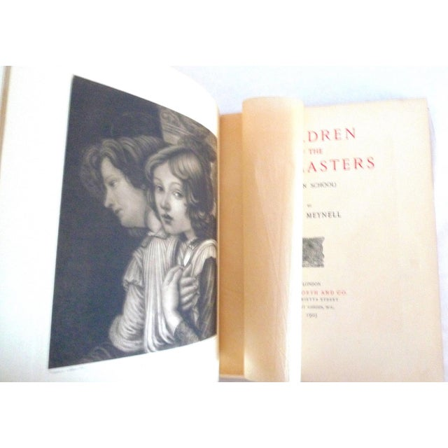 1900s Decorative Leather Book, Meynell's Children of the Old Masters For Sale - Image 4 of 9