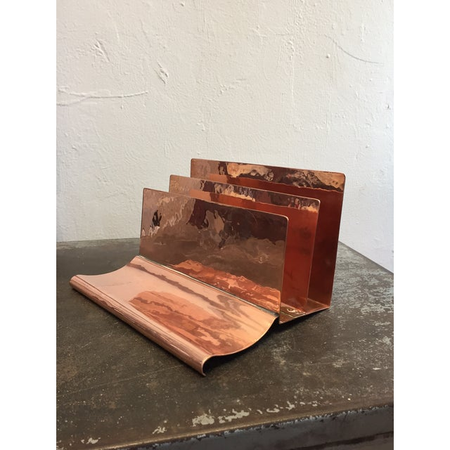 Copper File Sorter With Pen Rest - Image 2 of 6