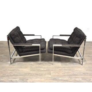 Cy Mann Chrome Lounge Chairs - a Pair Preview