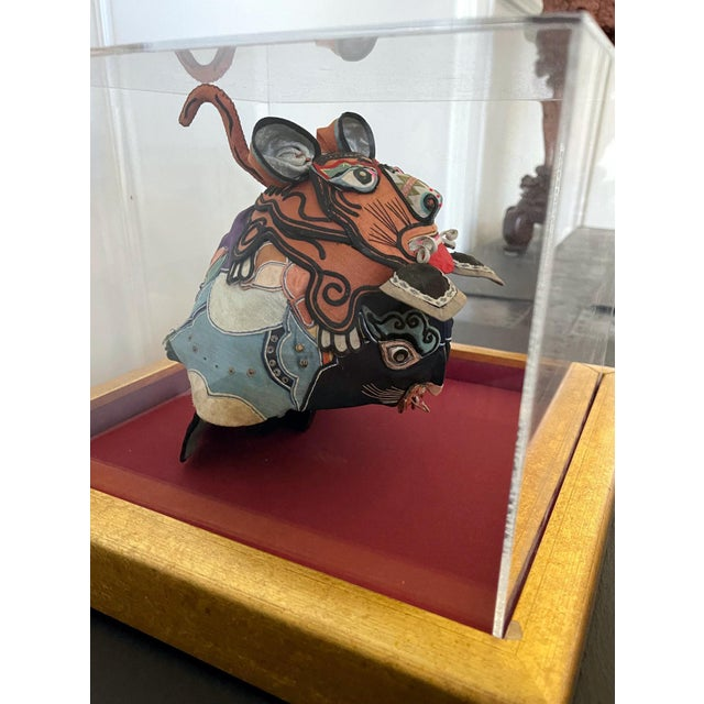 Silk Framed Antique Chinese Child Tiger-Head Hat For Sale - Image 7 of 12
