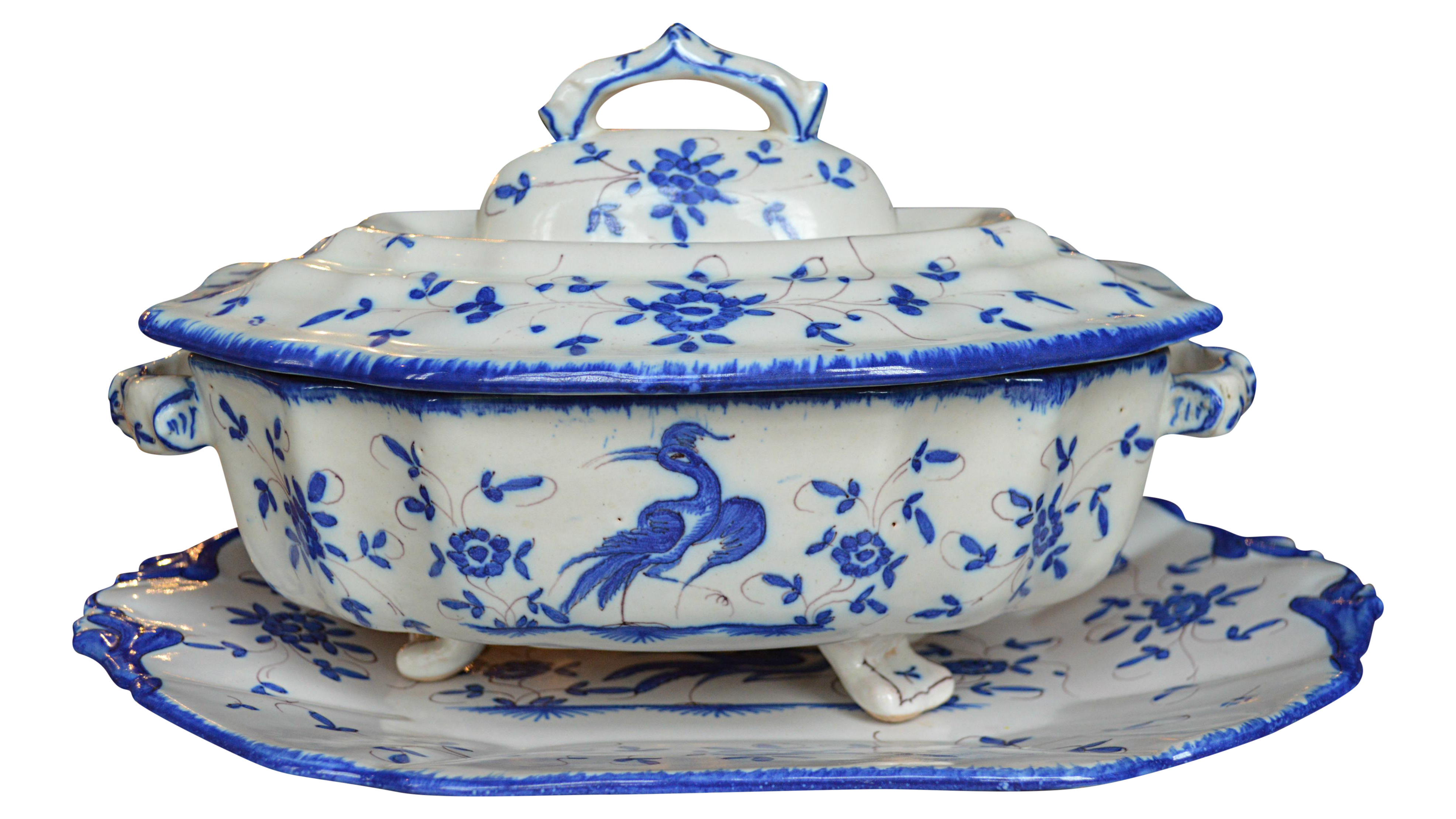 Antique French Ivory u0026 Blue Soupier - 3 Pieces  sc 1 st  Chairish & Vintage u0026 Used White Plates | Up to 70% Off at Chairish