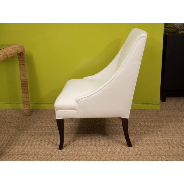 Mid 20th Century Vintage Slipper Chairs - A Pair For Sale - Image 5 of 8