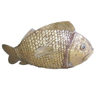Brass Fish Sculpture by Sergio Bustamante For Sale
