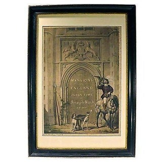 Antique Architectural Entry Engraving