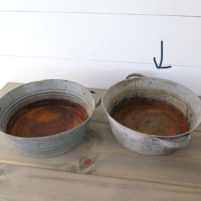 20th Century Industrial Zinc Tub For Sale - Image 4 of 5