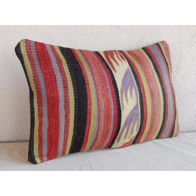 Handmade Turkish Kilim Lumbar Pillow For Sale - Image 4 of 6