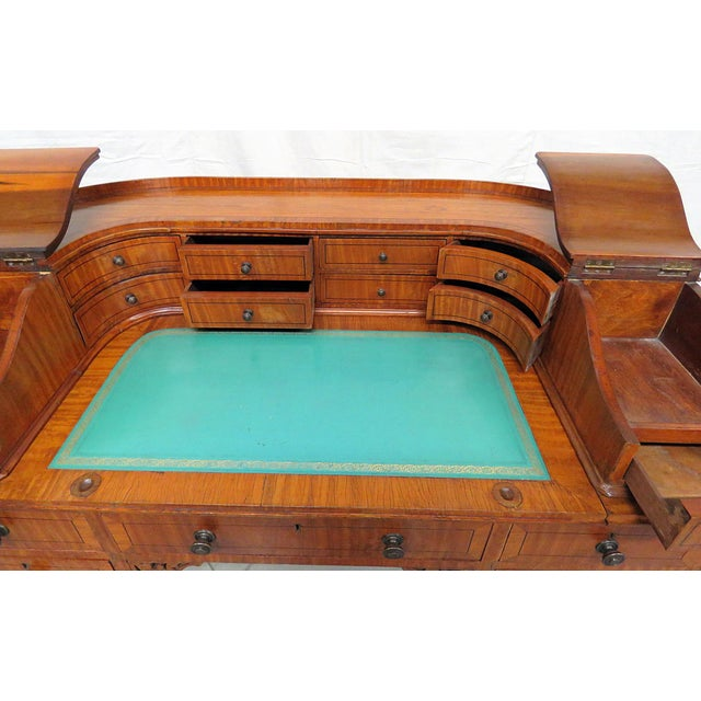 Early 20th Century Edwardian Carlton House Satinwood Writing Desk For Sale - Image 5 of 12
