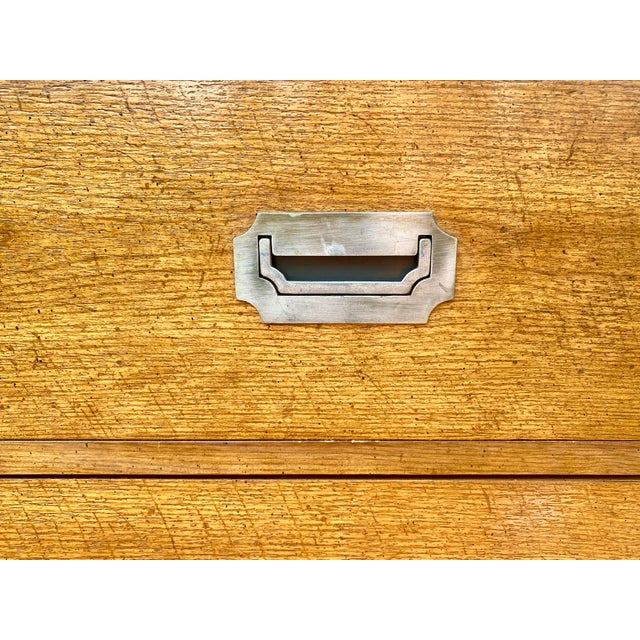 1970s Mid Century Modern Bernhardt Walnut Campaign Dresser For Sale - Image 9 of 13