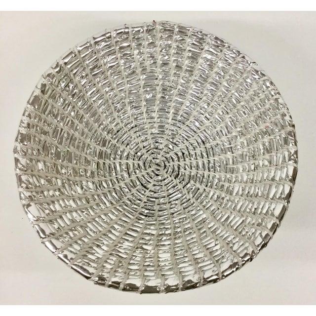 Modern Modern Artisan Hand Woven Repurposed Plastic Basket For Sale - Image 3 of 11