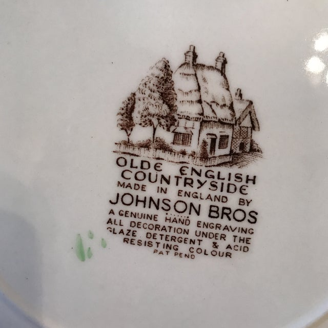 1960s Vintage Johnson Bros Olde English Countryside Serving Set - 17 Pieces For Sale - Image 10 of 13