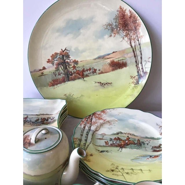 1950s Royal Doulton Fox Hunting D 5104 Dish Set - 40 Pieces For Sale - Image 5 of 8