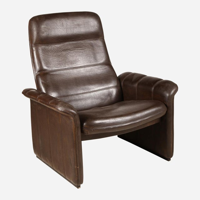 1940s De Sede Brown Leather Recliner For Sale - Image 5 of 5
