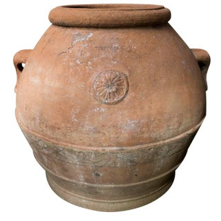 Italian Terracotta Urn Circa 19th Century From Tuscany For Sale