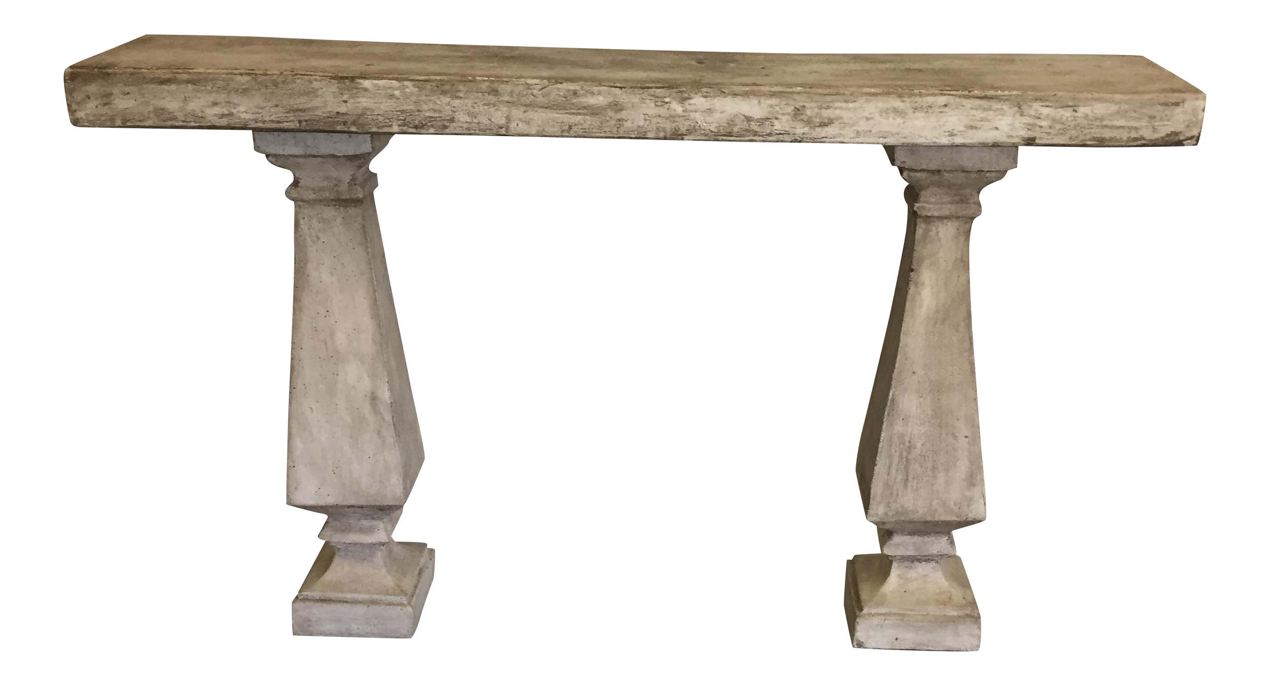 Superior French Concrete Console Table