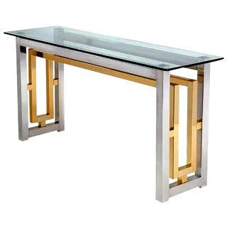 Romeo Rega Style Contrasting Console Table For Sale