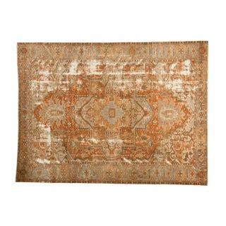 "Antique Distressed Karaja Carpet - 8'3"" X 11' For Sale"