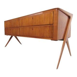 Osvaldo Borsani Style Italian Modern Sideboard For Sale