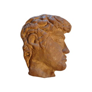 French Terra Cotta Greek Inspired Profile For Sale