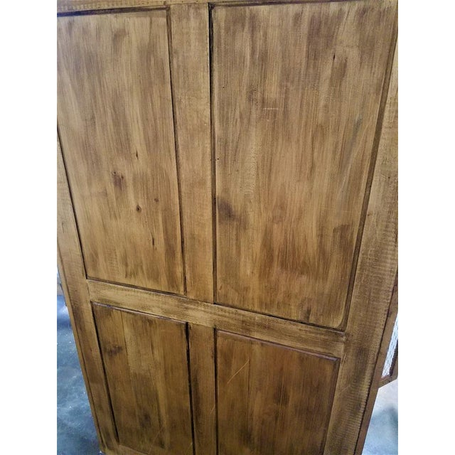 French Country Chicken Wire Cupboard Hutch China Cabinet For Sale In San Diego - Image 6 of 7