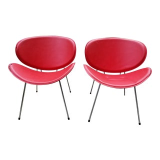 Mid-Century Modern Pierre Paulin Style Accent Chairs - a Pair